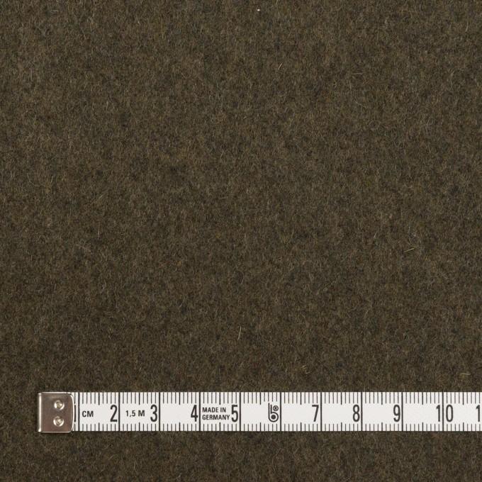 ウール×無地(アッシュカーキグリーン)×フラノ(フランネル) イメージ4