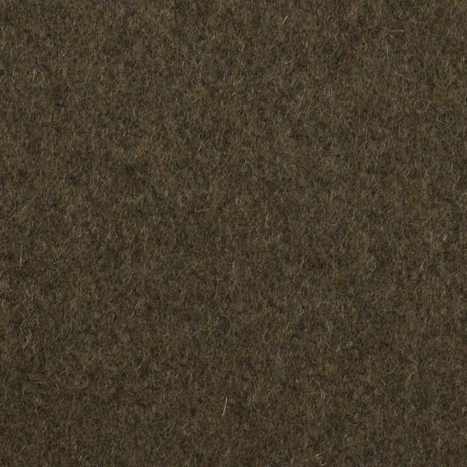 ウール×無地(アッシュカーキグリーン)×フラノ(フランネル) イメージ1
