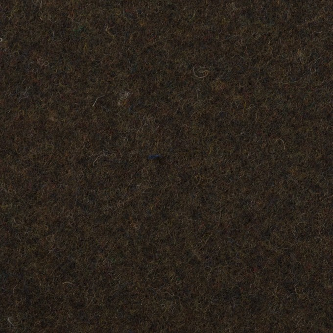 ウール×無地(ダークカーキブラウン)×フラノ(フランネル) イメージ1