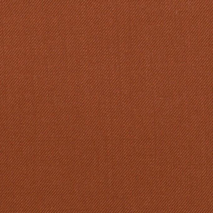 ウール&ポリエステル×無地(レンガ)×サージ イメージ1