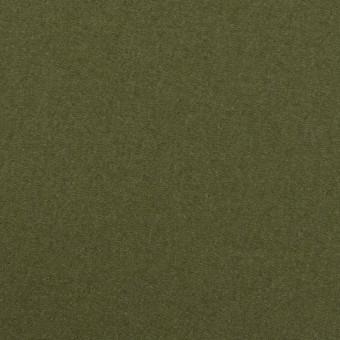 ウール×無地(カーキグリーン)×フラノ(フランネル)