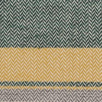 コットン×ボーダー(マスタード、グレー&モスグリーン)×ヘリンボーン_全3色