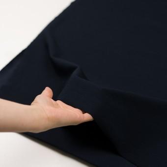 リヨセル&アクリル混×無地(ダークネイビー)×かわり編み サムネイル5