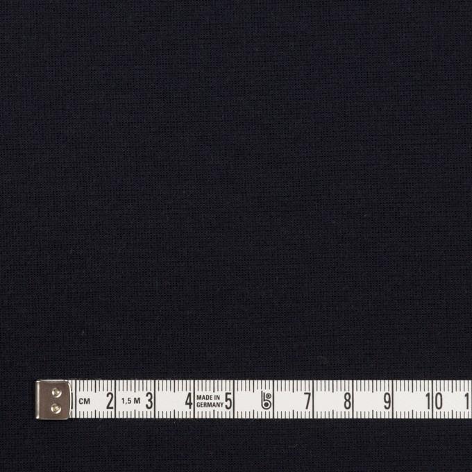 レーヨン&ポリエステル×無地(ダークネイビー)×Wニット イメージ4