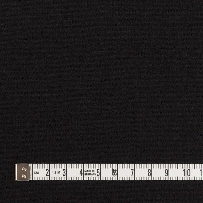 ウール×無地(ブラック)×天竺ニット イメージ4