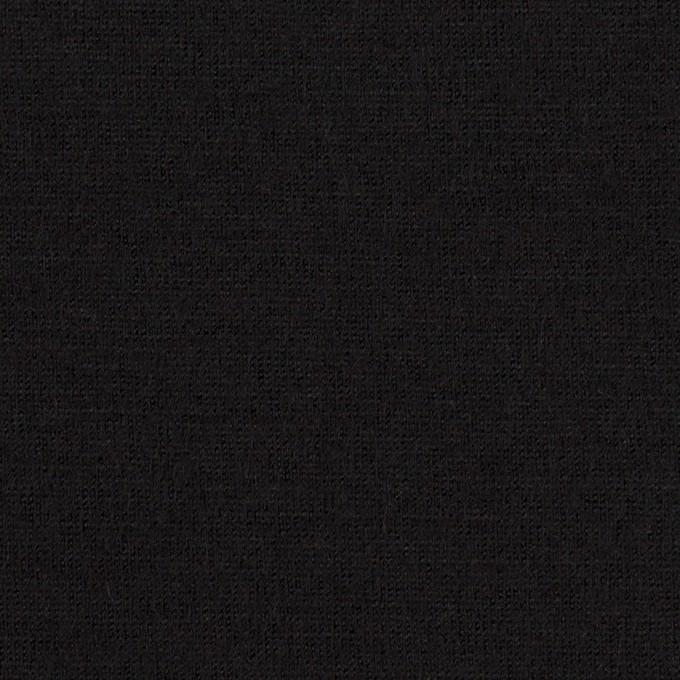 ウール×無地(ブラック)×天竺ニット イメージ1