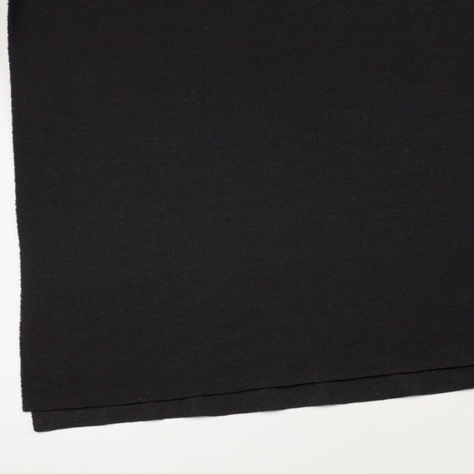 ウール&アクリル×無地(ブラック)×Wニット イメージ2