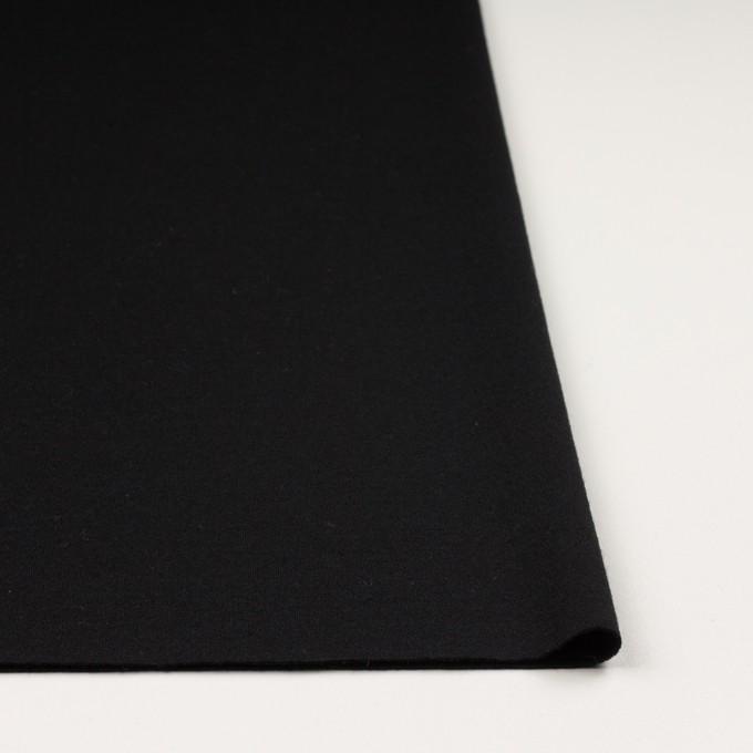 ウール&アクリル×無地(ブラック)×Wニット イメージ3