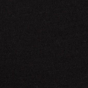 ウール&アクリル×無地(ブラック)×Wニット