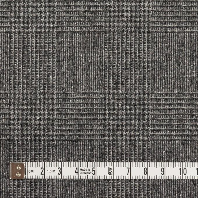 ウール×チェック(チャコールグレー)×ツイード イメージ4