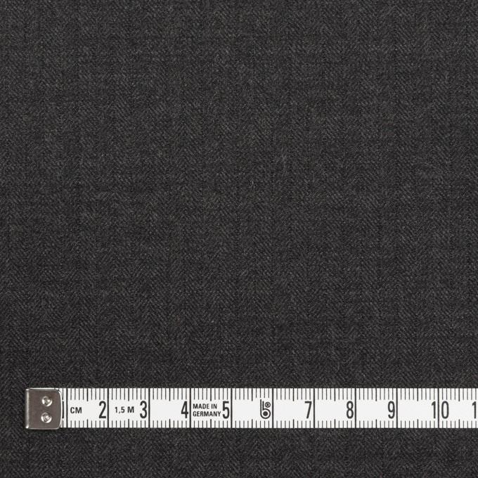 ウール×無地(チャコールグレー)×ヘリンボーン イメージ4