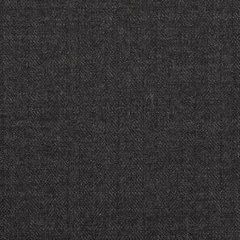 ウール×無地(チャコールグレー)×ヘリンボーン