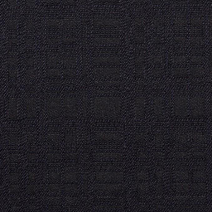 コットン×チェック(ダークネイビー)×ジャガード イメージ1