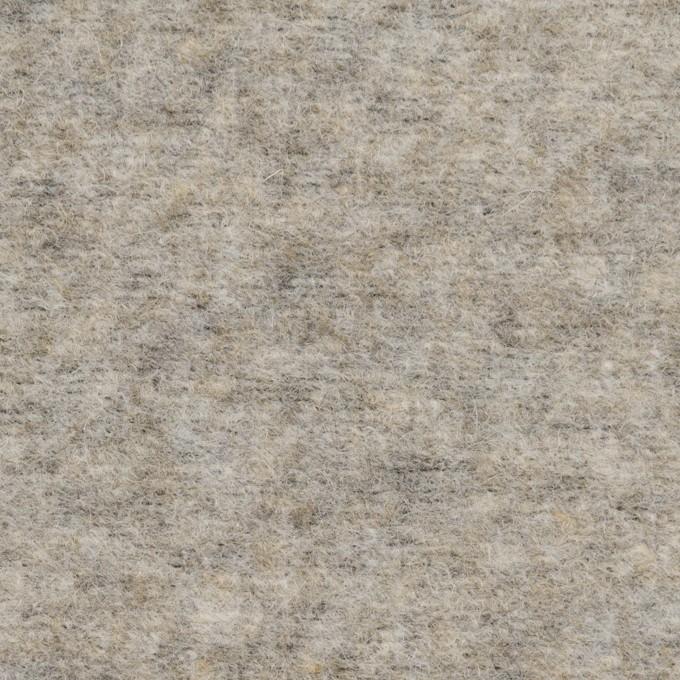 ウール&ポリエステル×無地(アッシュグレー)×ループニット イメージ1