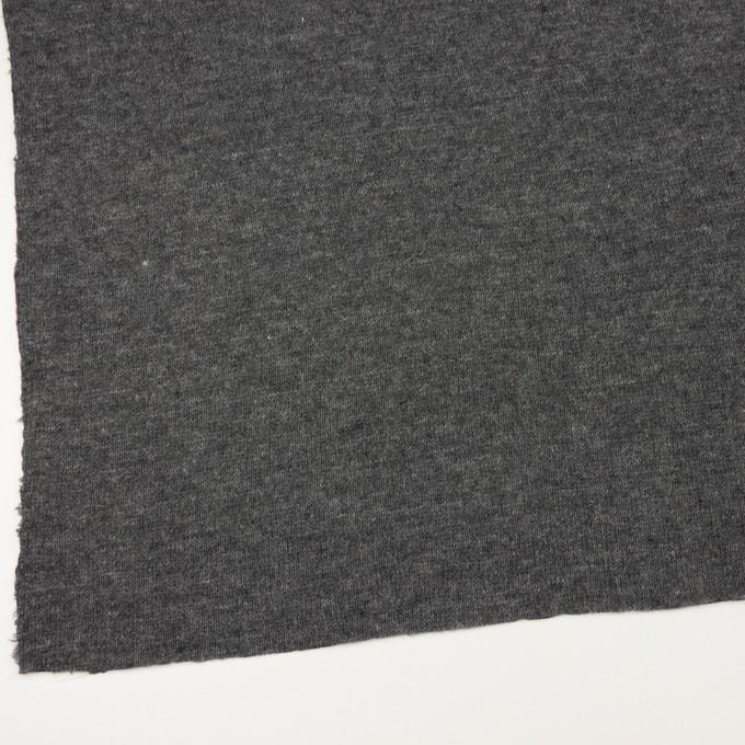 ウール&コットン×無地(チャコールグレー)×リブ&天竺ニット イメージ2