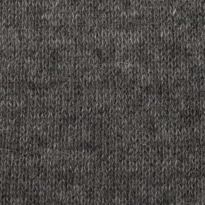 ウール&コットン×無地(チャコールグレー)×リブ&天竺ニット イメージ1