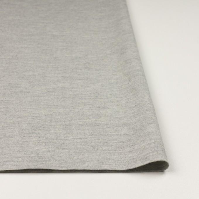 ウール×無地(ライトグレー)×圧縮ニット イメージ3