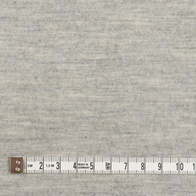 ウール×無地(ライトグレー)×圧縮ニット イメージ4
