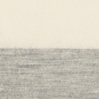 ウール×ボーダー(ミルキーホワイト&ライトグレー)×圧縮ニット