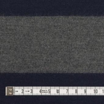 ウール×ボーダー(グレー&ネイビー)×圧縮ニット サムネイル4