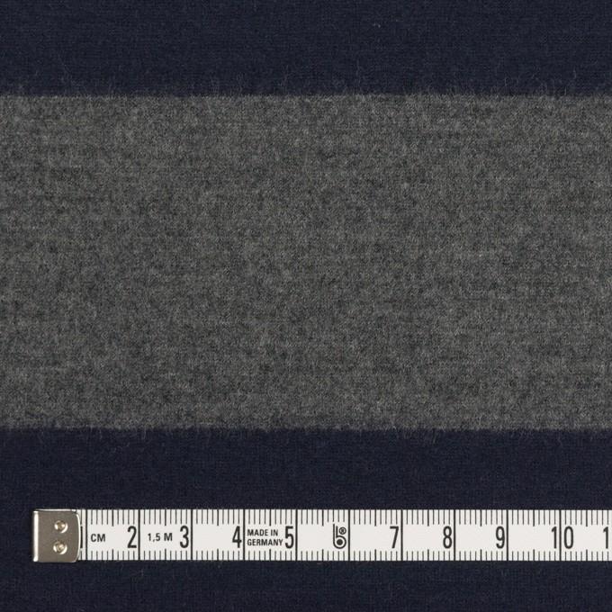ウール×ボーダー(グレー&ネイビー)×圧縮ニット イメージ4