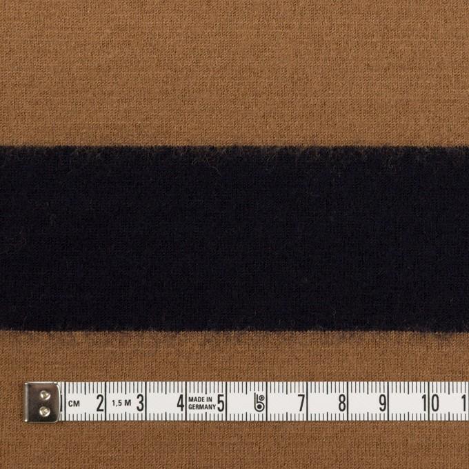 ウール×ボーダー(オークル&ブラック)×天竺ニット イメージ4