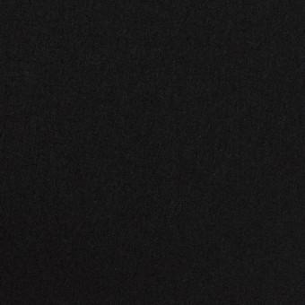 ウール×無地(ブラック)×フラノ(フランネル)_全2色