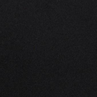 ウール×無地(ブラック)×ソフトメルトン