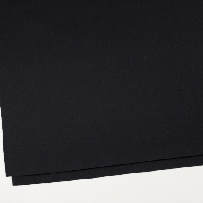 ウール×無地(ブルーブラック)×ソフトメルトン イメージ2
