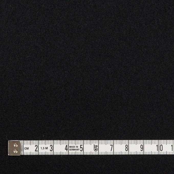 ウール×無地(ブルーブラック)×ソフトメルトン イメージ4