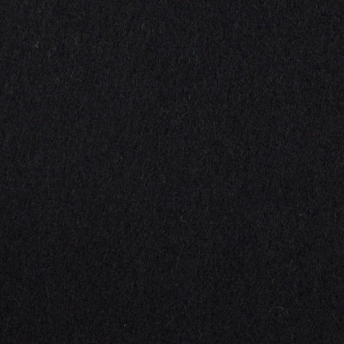 ウール×無地(ブルーブラック)×ソフトメルトン イメージ1