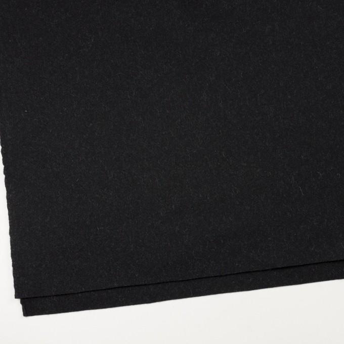ウール×無地(チャコールブラック)×メルトン イメージ2