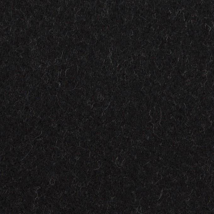 ウール×無地(チャコールブラック)×メルトン イメージ1