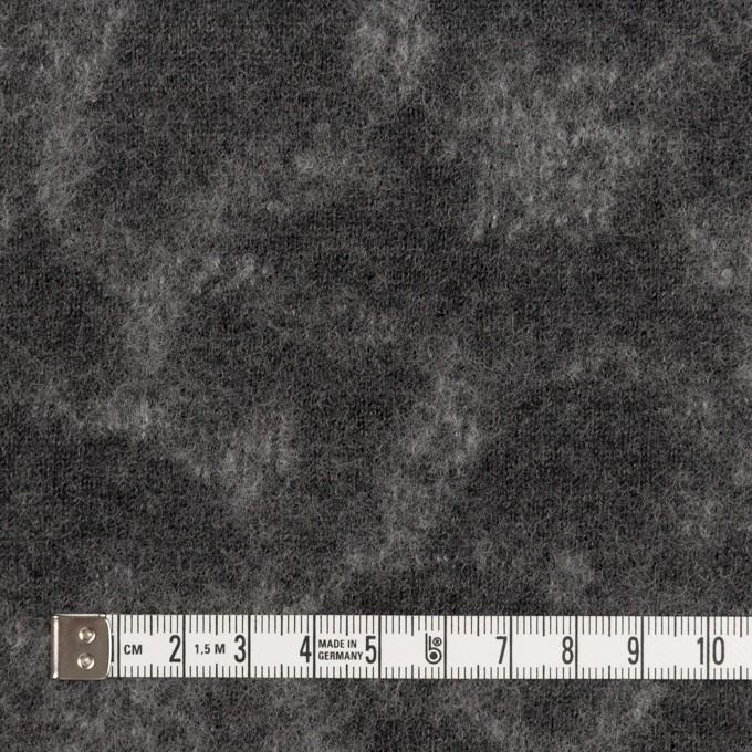 ウール×幾何学模様(チャコールグレー&ライトグレー)×ジャガードニット_全2色 イメージ4