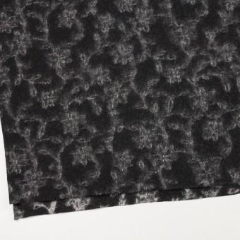 ウール×幾何学模様(ブラック&オフホワイト)×ジャガードニット_全2色 サムネイル2