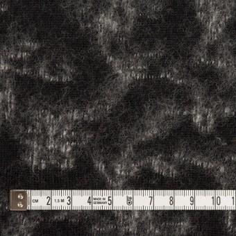 ウール×幾何学模様(ブラック&オフホワイト)×ジャガードニット_全2色 サムネイル4