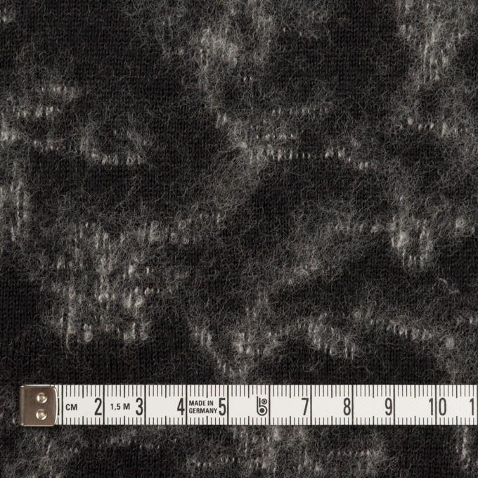 ウール×幾何学模様(ブラック&オフホワイト)×ジャガードニット_全2色 イメージ4