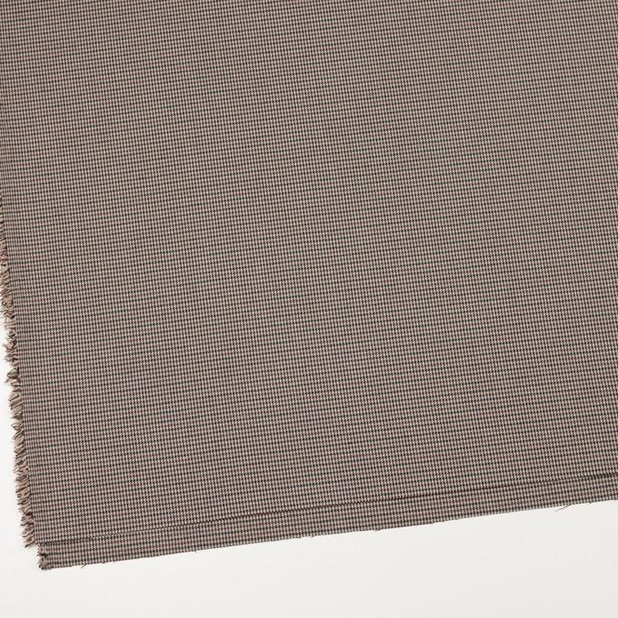 ポリエステル&レーヨン混×チェック(ベージュ&ブラウン)×千鳥格子ストレッチ_全2色 イメージ2