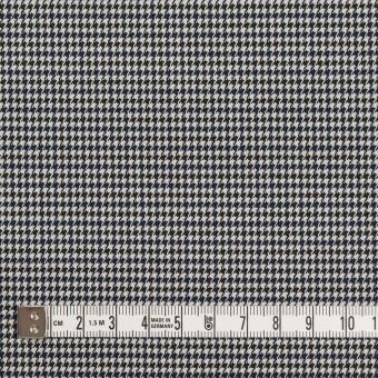 ポリエステル&レーヨン混×チェック(ネイビー&ブラック)×千鳥格子ストレッチ_全2色 サムネイル4