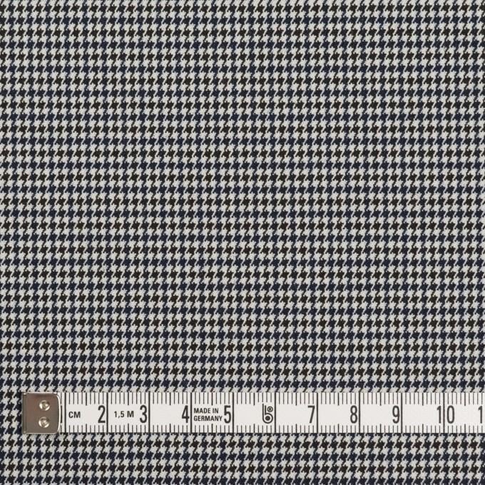 ポリエステル&レーヨン混×チェック(ネイビー&ブラック)×千鳥格子ストレッチ_全2色 イメージ4