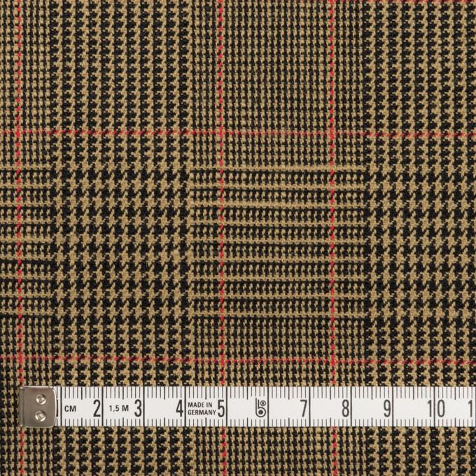 コットン&ウール×チェック(モカ&ブラック)×二重織_全2色 イメージ4