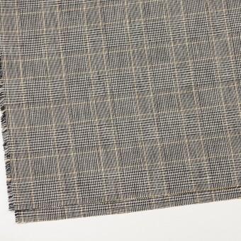 コットン&ウール×チェック(アイボリー&ブラック)×二重織_全2色 サムネイル2