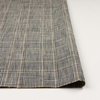 コットン&ウール×チェック(アイボリー&ブラック)×二重織_全2色 サムネイル3