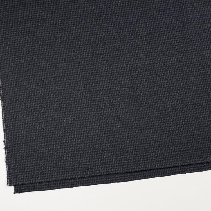 ウール&ポリウレタン×チェック(ダークネイビー&グレー)×千鳥格子ストレッチ イメージ2