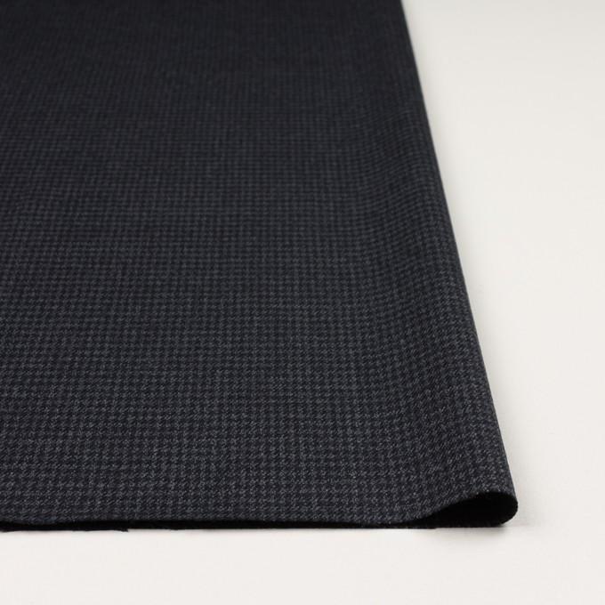 ウール&ポリウレタン×チェック(ダークネイビー&グレー)×千鳥格子ストレッチ イメージ3
