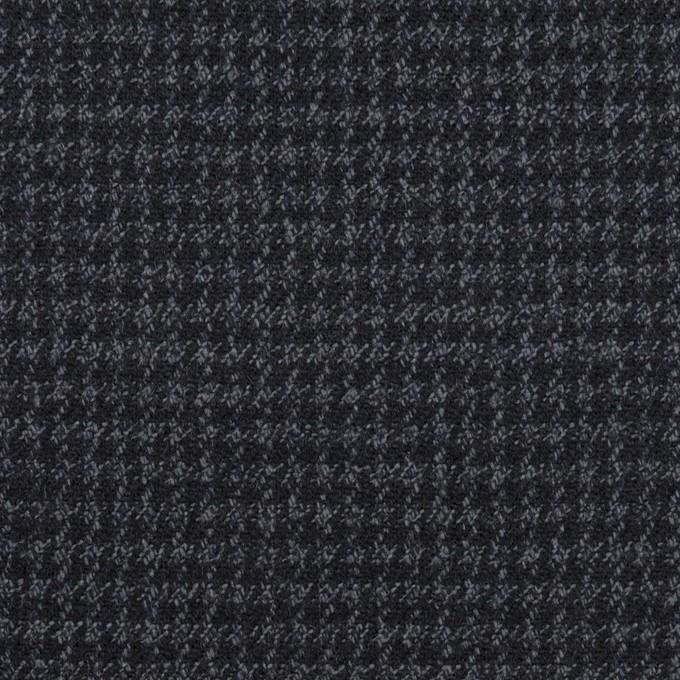 ウール&ポリウレタン×チェック(ダークネイビー&グレー)×千鳥格子ストレッチ イメージ1
