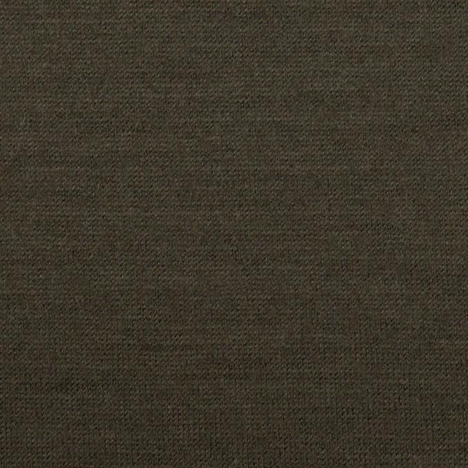 ウール×無地(カーキグリーン)×天竺ニット イメージ1