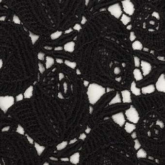 ウール×フラワー(ブラック)×ケミカルレース_全2色