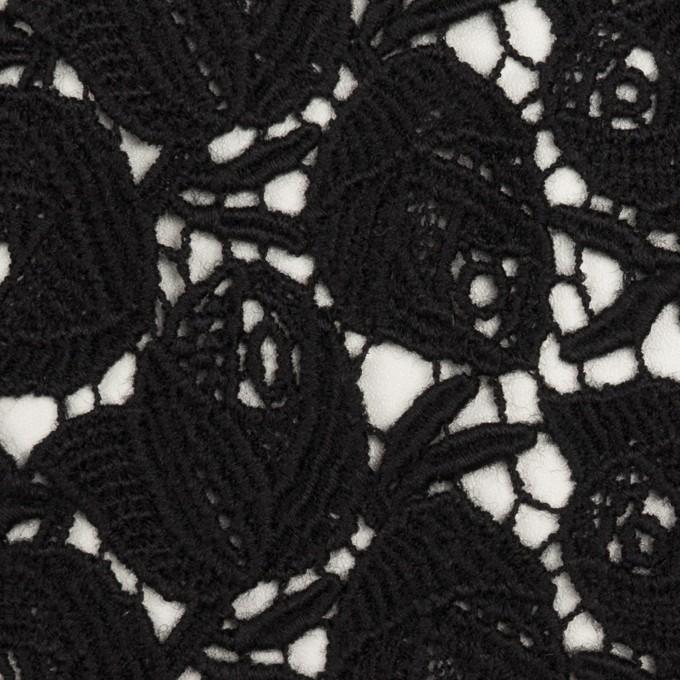 ウール×フラワー(ブラック)×ケミカルレース_全2色 イメージ1