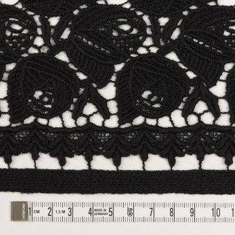 ウール×フラワー(ブラック)×ケミカルレース_全2色 サムネイル6